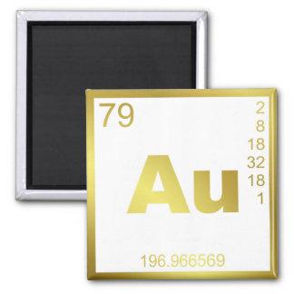Element gold refrigerator magnets