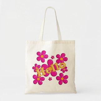 Élément rose floral. Bonjour Tote Bag