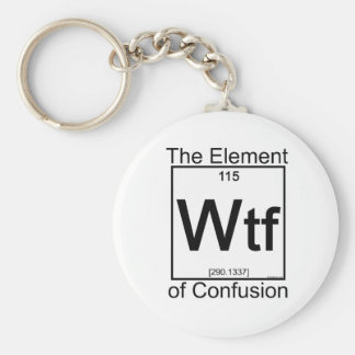 Element WTF Basic Round Button Keychain