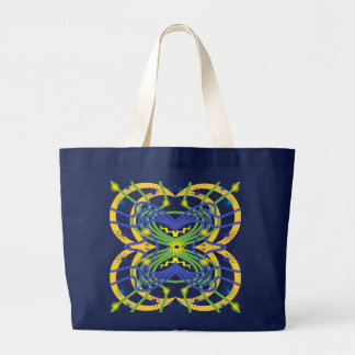 Elemental Abstract Large Tote Bag