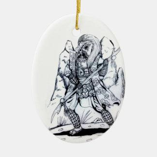 Elemental Air Samurai Ceramic Ornament