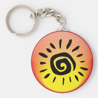 Elemental Basic Round Button Keychain