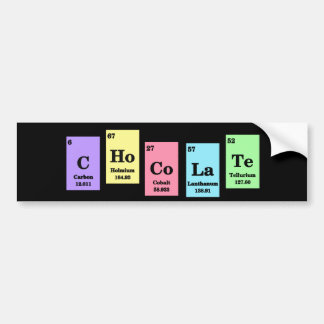 Elemental Chocolate Bumper Sticker