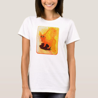 Elemental Fire Cat Phoenix Cat Art Fantasy T-Shirt