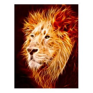 Elemental lion postcard