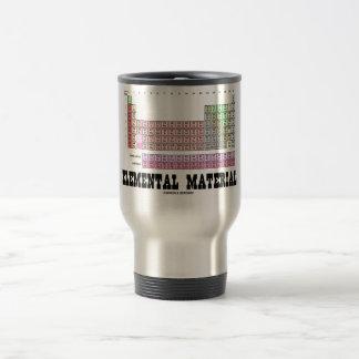 Elemental Material (Periodic Table Of Elements) Travel Mug