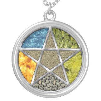 Elemental Pagan Pentagram Pentacle Wiccan Necklace