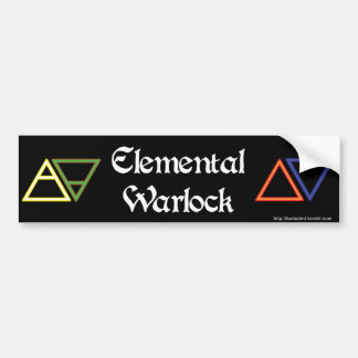 Elemental Warlock Bumper Sticker