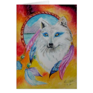 Elemental Wolf Card