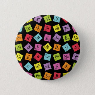 Elementary Periodic (Dark) 2 Inch Round Button