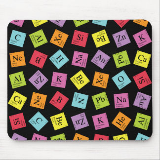 Elementary Periodic (Dark) Mouse Pad