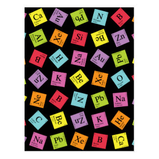 Elementary Periodic (Dark) Postcard