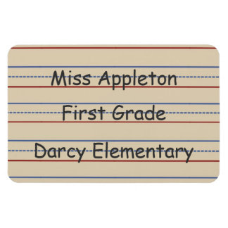 Elementary School Paper Flexi Magnet