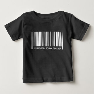 Elementary School Teacher Barcode Baby T-Shirt