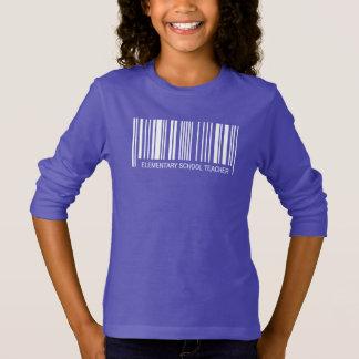 Elementary School Teacher Barcode T-Shirt