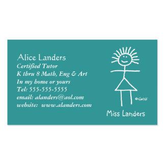 Elementary Tutor Teacher Business Card Custom