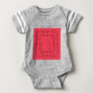Elements folk ethno  red Vintage Baby Bodysuit
