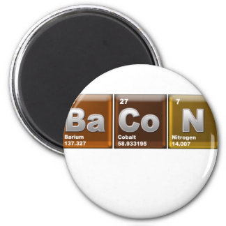 "Elements spelling ""BACON"" 2 Inch Round Magnet"