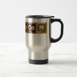 "Elements spelling ""BACON"" Travel Mug"