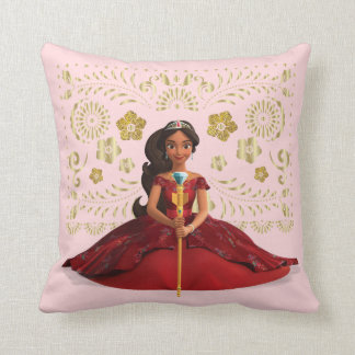 Elena | Elena Dressed Royally Throw Pillow