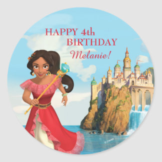 Elena of Avalor | Birthday Round Sticker