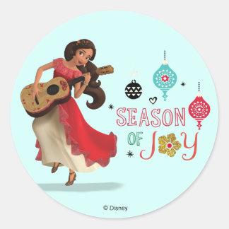 Elena   Season of Joy Classic Round Sticker