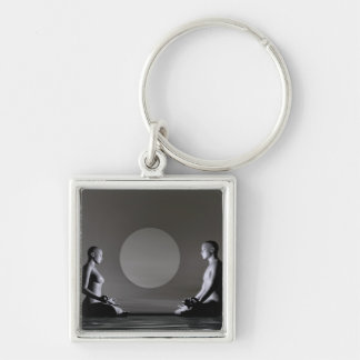 elenarts,elena,duvernay,architecture,pagoda,japan, Silver-Colored square keychain