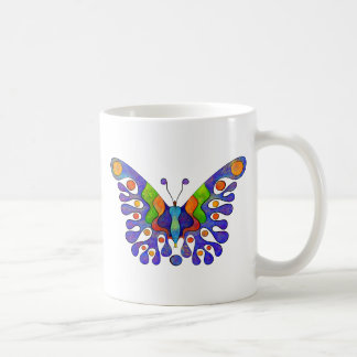 Elenissina - colourful butterfly coffee mug