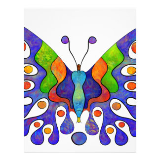 Elenissina - colourful butterfly customized letterhead