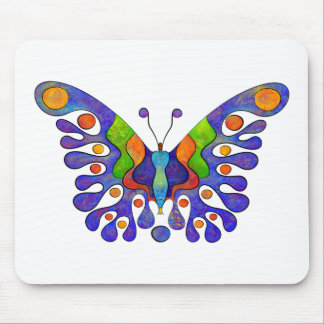 Elenissina - colourful butterfly mouse pad