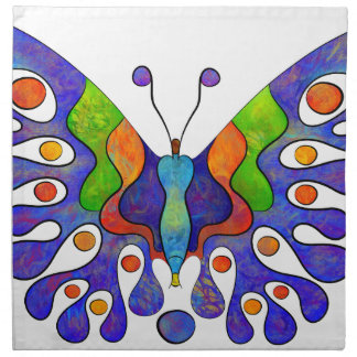 Elenissina - colourful butterfly napkin