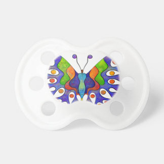 Elenissina - colourful butterfly pacifier