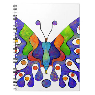 Elenissina - colourful butterfly spiral notebook