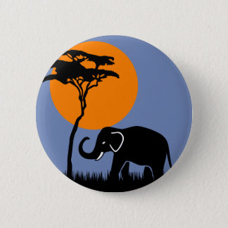 Elephant 2 Inch Round Button