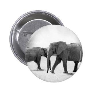 elephant 2 inch round button