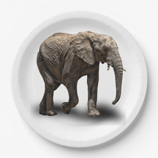 ELEPHANT 9 INCH PAPER PLATE