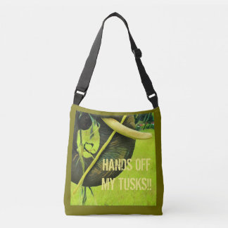 Elephant activist cross body bag