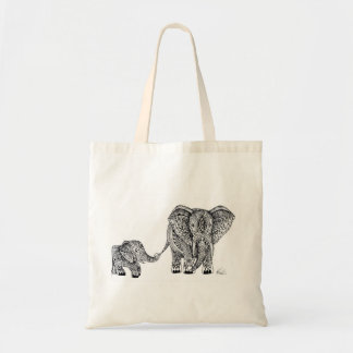 Elephant and baby tote