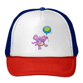 Elephant and balloon. trucker hat