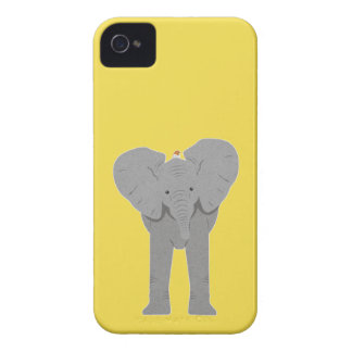elephant and bird iPhone 4 Case-Mate case