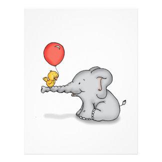 Elephant and Bird Letterhead Template