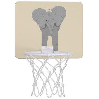 elephant and bird mini basketball hoop