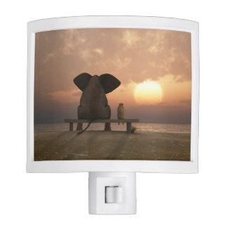 Elephant and Dog Friends Night Light