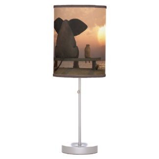 Elephant and Dog Friends Table Lamp