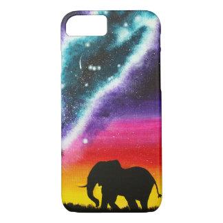 Elephant and Milky Way - Custom Art Phone Case