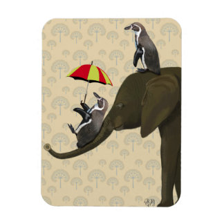 Elephant and Penguins Magnet