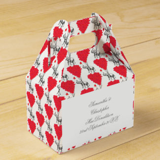 Elephant and red heart wedding favor box