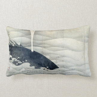 Elephant and Whale Screens by Ito Jakuchu Lumbar Pillow