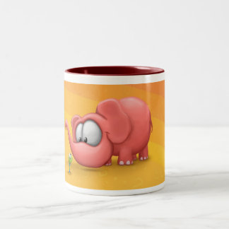 Elephant and worm mug