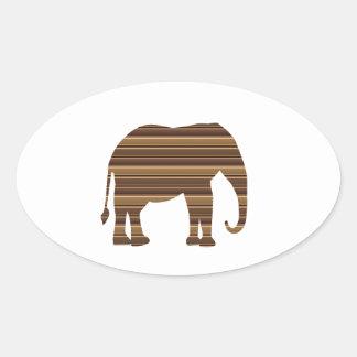 ELEPHANT animal wild pet Gold Stripe Brown NVN286 Stickers